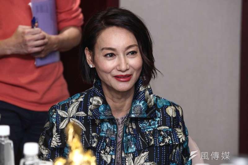 20181118-電影「翠絲」媒體茶敘,圖為惠英紅。(蔡親傑攝)