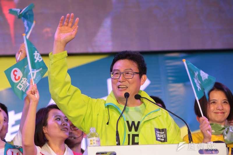 民進黨台北市長候選人姚文智18日宣布辭去立委,全力投入選戰。(顏麟宇攝)