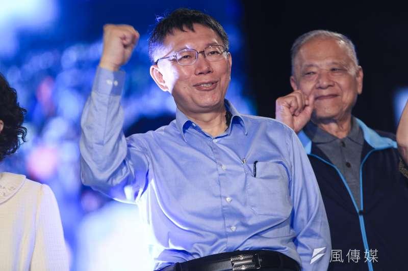 對於民進黨台北市長候選人姚文智請辭立委職務,台北市長柯文哲表示,選戰到了最後,每個候選人都有自己的戰術,自己十分尊重。(資料照,簡必丞攝)