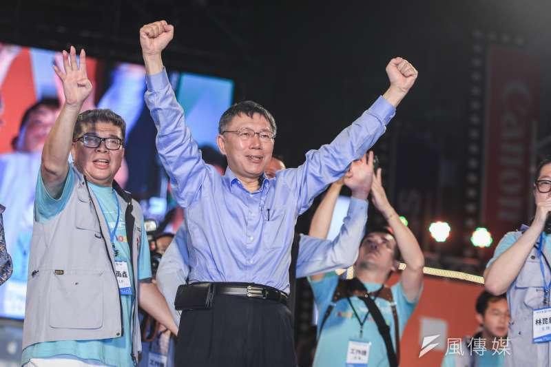 台北市長柯文哲在九合一大選中驚險連任,其中最重要開發案之一,雙子星開發案位在台北西區國門、投資規模近700億元的捷運聯合開發案,也成為柯市長的「試金石」。(資料照,簡必丞攝)