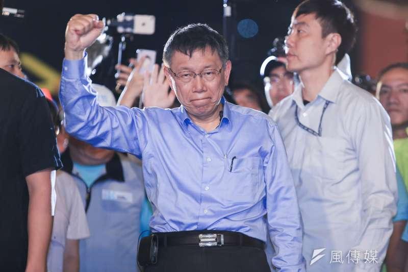 針對對手姚文智對《台大醫訊》內文的質疑,台北市長柯文哲回應,自己根本沒做選總統的準備,希望對手不要再抹紅。(資料照,簡必丞攝)