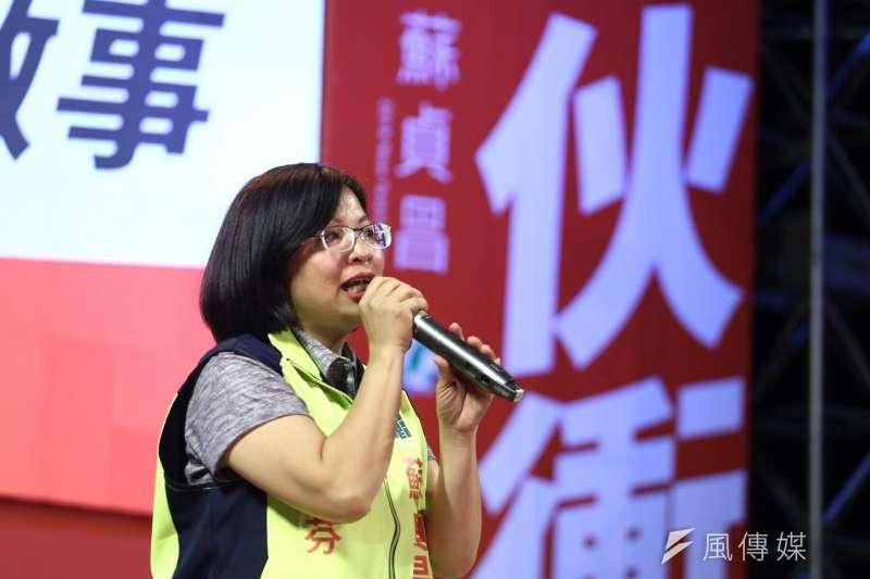 綠委林淑芬(見圖)指控,韓國瑜和張榮味是全國最大菜蟲,高雄三山造勢是王金平辦的,這些都是國民黨裡最黑暗的派系政治。(陳品佑攝)