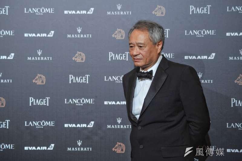 金馬獎主席李安在媒體聯訪時呼籲「就藝術論藝術」。(顏麟宇攝)