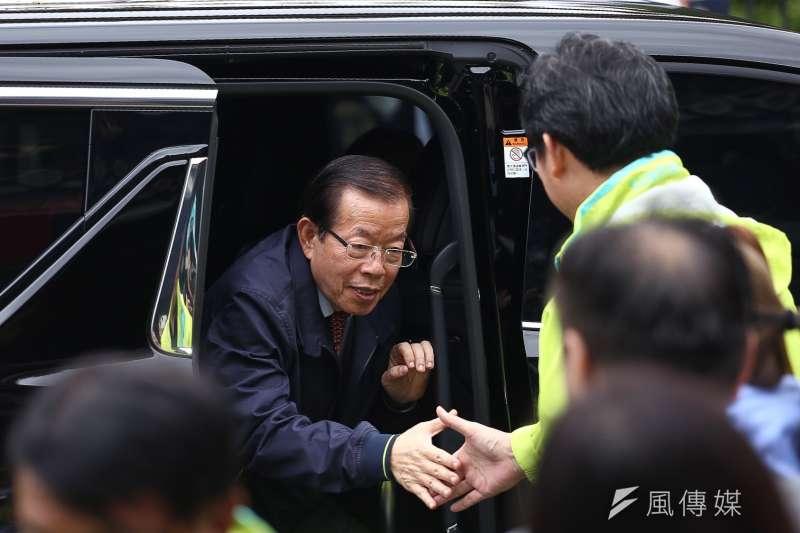 20181119-駐日代表謝長廷回台助選,也捲入當年侯友宜是否勸降陳進興的爭議中。(資料照片,陳品佑攝)