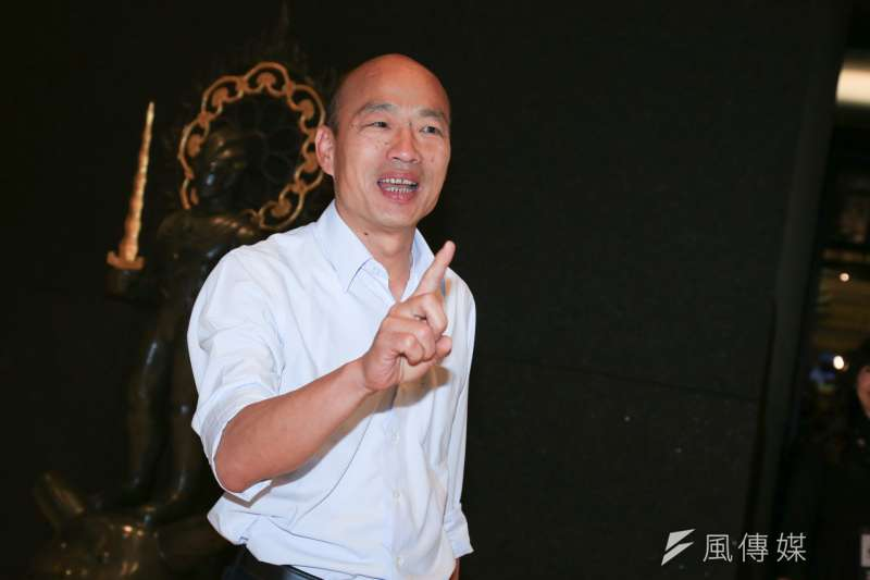 國民黨高雄市長候選人韓國瑜,批評民進黨選舉奧步及抹黑,提及「像是謝長廷、吳敦義的錄音帶事件。」對此,謝長廷21日貼文反擊。(資料照,簡必丞攝)