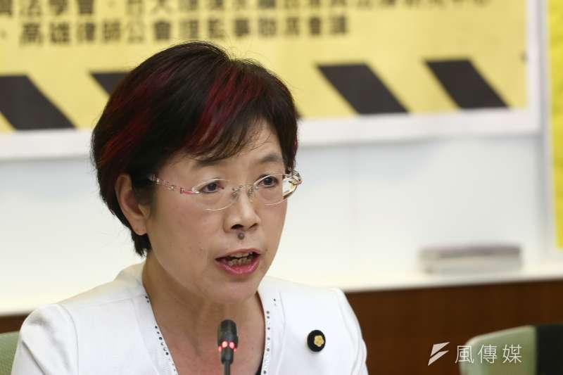20181119-2018年法律界反對公投第16案以核養綠聲明記者會,立委尤美女。(陳品佑攝)