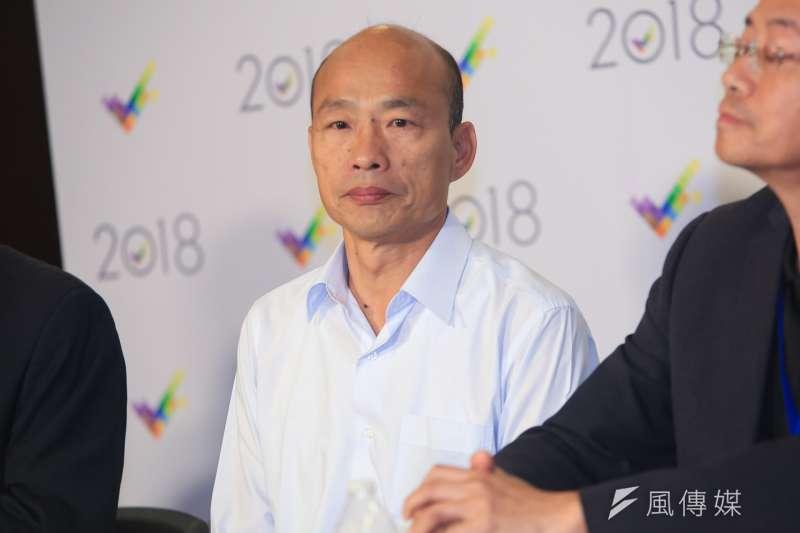 20181119-高雄市長候選人韓國瑜、陳其邁今(19)日於三立電視台舉辦辯論會。(簡必丞攝)