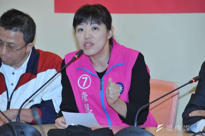 新北市議員唐慧琳(見圖)25日清晨傳出胰臟癌病逝消息,享年49歲。(資料照,甘岱民攝)