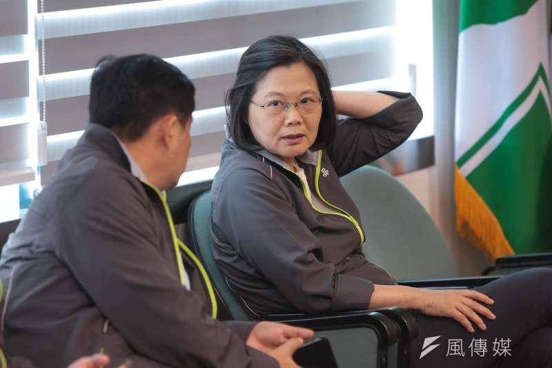 20181121-總統蔡英文21日於民進黨中常會後發表談話。(顏麟宇攝)