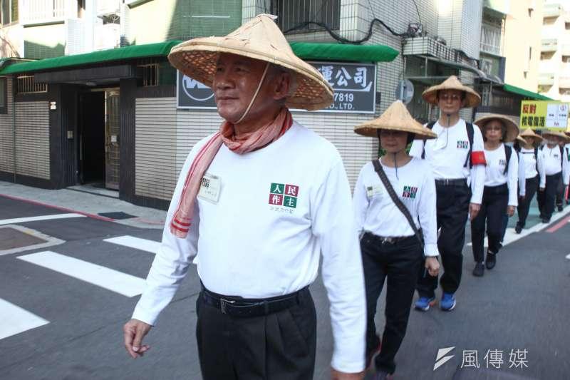 民進黨前主席林義雄在九合一選舉前出面呼籲大家對以核養綠投下反對票,但結果事與願違。(蔡親傑攝)