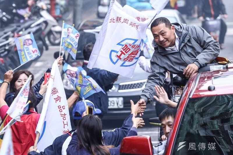 20181123-國民黨新北市長候選人侯友宜板橋車隊掃街。(陳品佑攝)