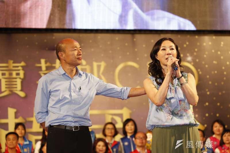 高雄市長韓國瑜(左)之妻李佳芬(右)日前被爆,名下位於老家雲林的房產疑為違建農舍,引發爭議。(資料照,新新聞郭晉瑋攝)