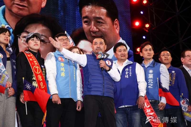國民黨新北市長候選人侯友宜「正義X覺醒,護新北」選前之夜。(蔡親傑攝)