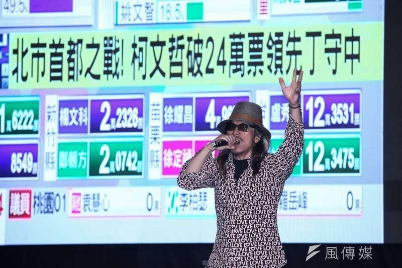 罷韓選前之夜,藝人朱頭皮(見圖)將與樂團舉辦線上演唱會。(資料照,蔡親傑攝)