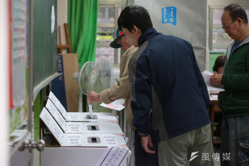 20181124-107年度九合一選舉投開票所畫面。(顏麟宇攝)