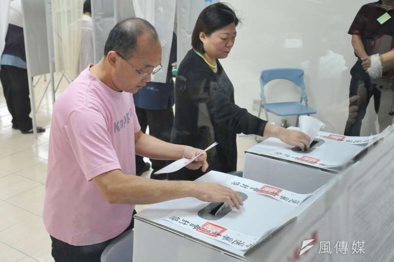 20181124-107年度九合一選舉投開票所畫面。(甘岱民攝)