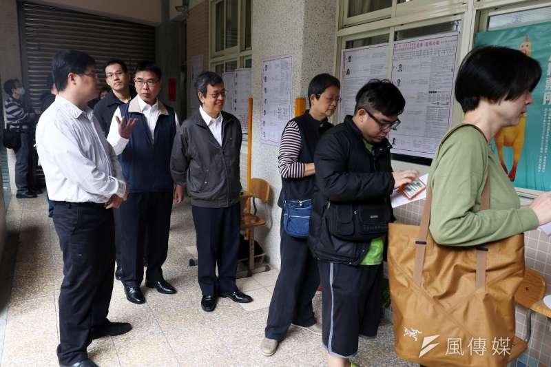 20181124-副總統陳建仁107年地方公職選舉投票。(蘇仲泓攝)