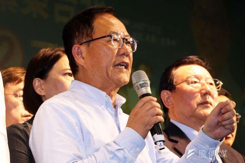 國民黨台北市長候選人丁守中以三千多票落敗,決定控告選舉無效。(蘇仲泓攝)