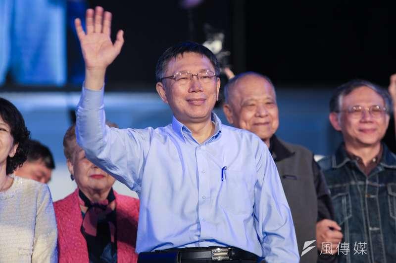 現任台北市長柯文哲雖贏選戰,但實際收益僅1942萬,仍不夠金額償還向銀行貸款的2000萬元。(資料照,簡必丞攝)