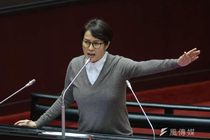 20181127-無黨籍立委高金素梅27日於立院質詢。(顏麟宇攝)