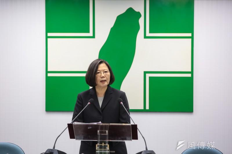 「沈青松教授提醒小英與民進黨:當我們在說現在的中國不民主,『到底你民主之後要往哪裡走?」這才是更要緊的方向問題。」(資料照,顏麟宇攝)