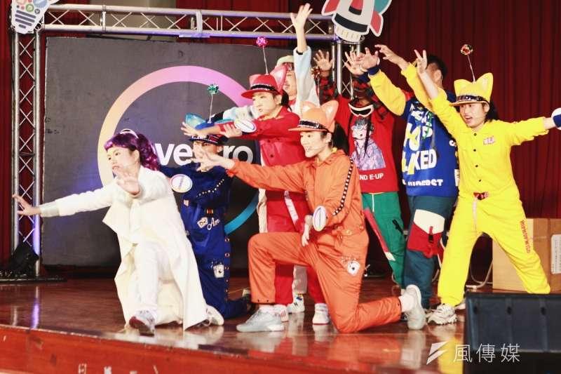 北聰科學舞台劇: 科思創委託果陀劇場指導,台北啟聰學校的八位同學,演出「科博士的奇幻實驗室」科學舞台劇。(圖/風傳媒攝)
