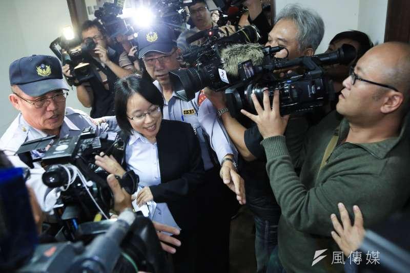 北農總經理吳音寧29日出席北農董事會,並遭解職。(簡必丞攝)