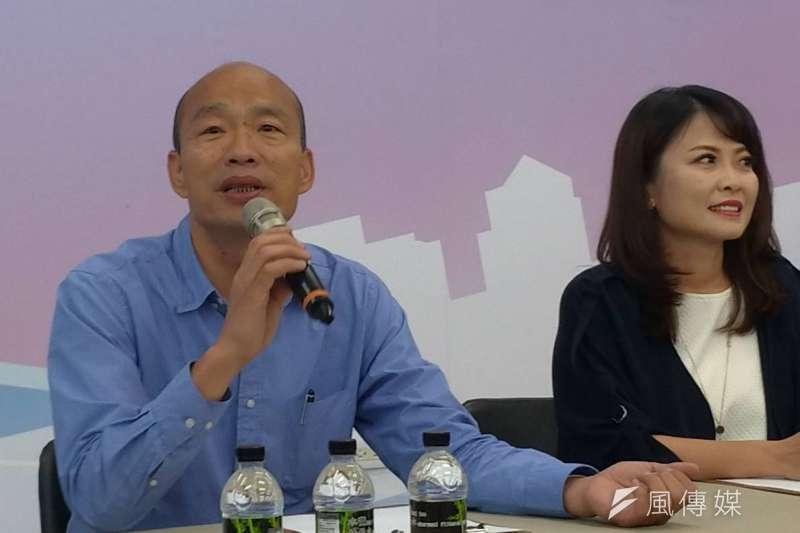 準高雄市長韓國瑜自爆,有名小內閣人選洽談到最後一刻透露曾酒駕,最後不任用。(資料照,徐炳文攝)