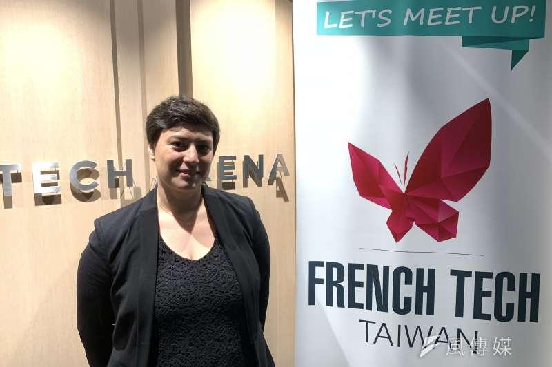 法國區塊鏈電影交易平台Cinemarket內容策展人雷克(Anne-Sophie Lehec)(簡恒宇攝)