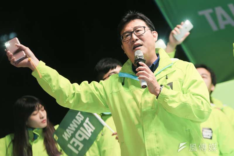 20181130-民進黨台北市長候選人姚文智表示,因選前已承諾不接受任何政治職務,未來準備拍鄭南榕的電影。(簡必丞攝)
