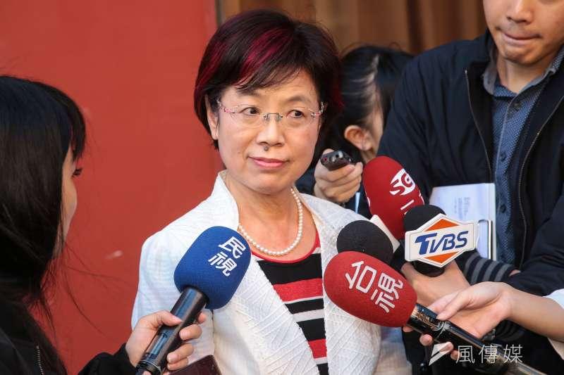民進黨立委尤美女30日於立院接受媒體聯訪。(顏麟宇攝)