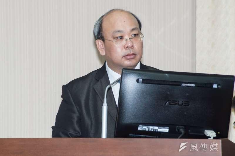 20181203-立法院內政委員會,中選會代理主委陳朝建。(甘岱民攝)