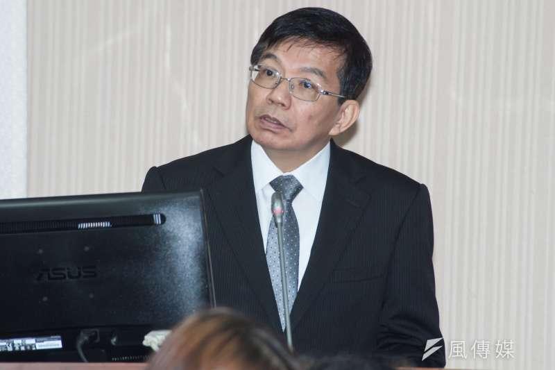20181203-立法院交通委員會,交通部代理部長王國材。(甘岱民攝)