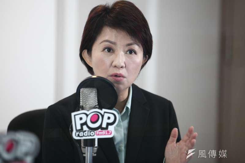 20181203-台中市長當選人盧秀燕接受Pop Radio黃光芹專訪。(蔡親傑攝)