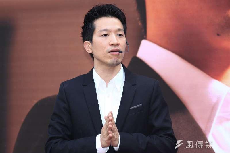 20181204-台北市議員何志偉誓師參加立委選舉。(蔡親傑攝)