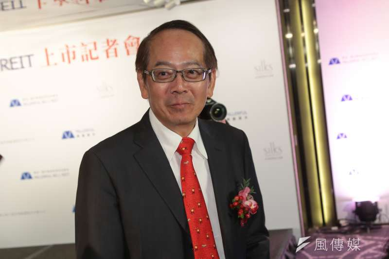20181204-樂富資本董事長翁明正4日出席「樂富一號不動產投資信託基金上市記者會」。(顏麟宇攝)