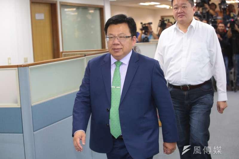 20181205-民進黨立委李俊俋5日出席民進黨中執會。(顏麟宇攝)