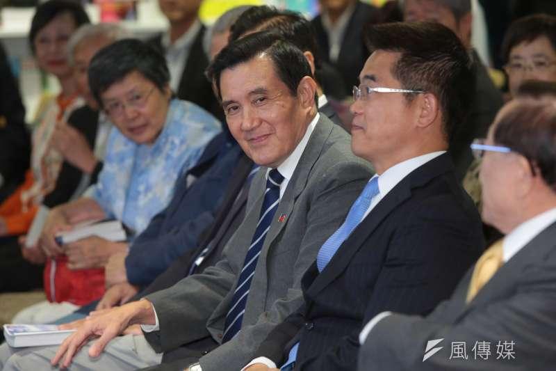 前總統馬英九今(5)日表示,當初服貿簽訂時受太陽花學運反彈,「他們自以為是愛台灣,但害死台灣了。」(顏麟宇攝)