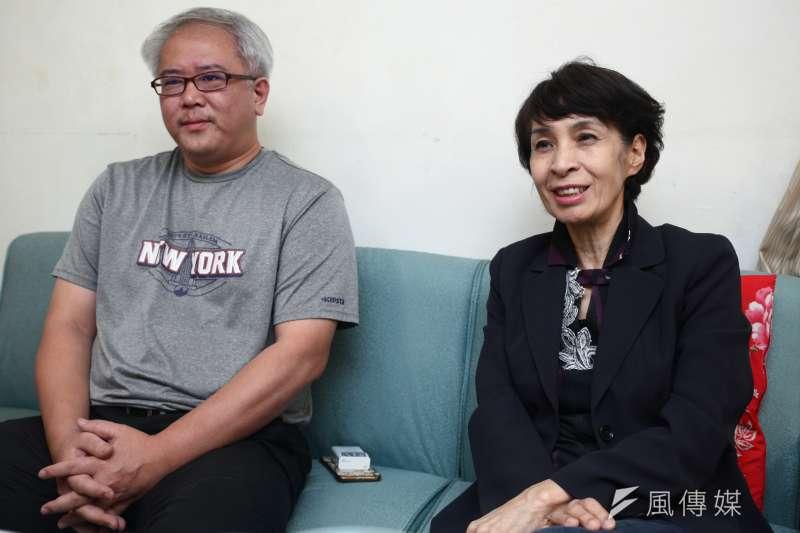 20181207-「國際橋牌社」製作人汪怡昕(左)、監製馮賢賢(右)專訪。(蔡親傑攝)