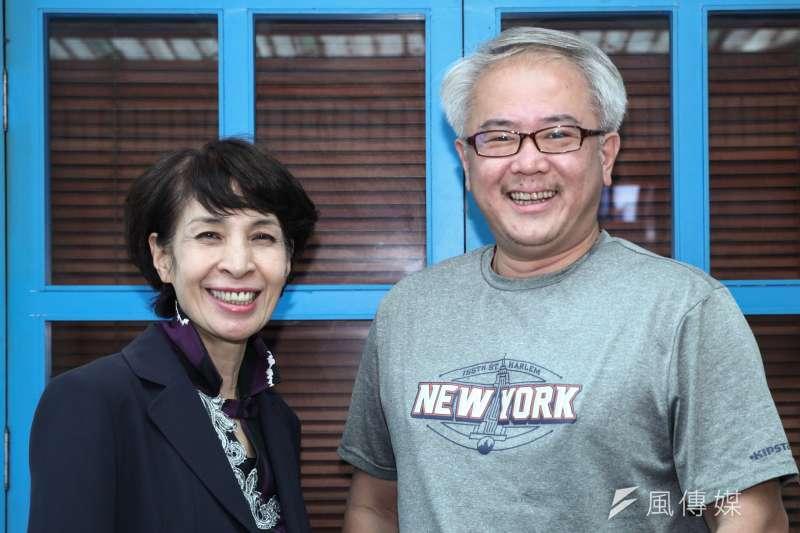 20181207-「國際橋牌社」製作人汪怡昕(右)、監製馮賢賢(左)專訪。(蔡親傑攝)