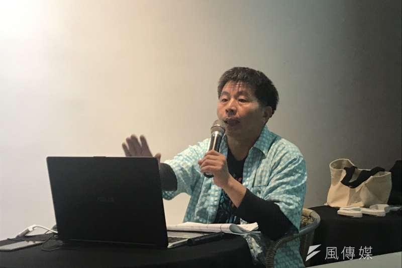 20181207-北海岸反核行動聯盟7日舉辦座談會,與金山居民討論「以核養綠」公投效應以及核一除役計畫環評等事宜。北海岸反核行動聯盟執行長郭慶霖表示,以核養綠公投是一場不公平的對決,即便拿到將近600萬的同意票,也絕對無法代表全台灣人的意見。(廖羿雯攝)