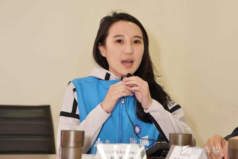 20180306-議員參選人耿葳出席記者會。(盧逸峰攝)