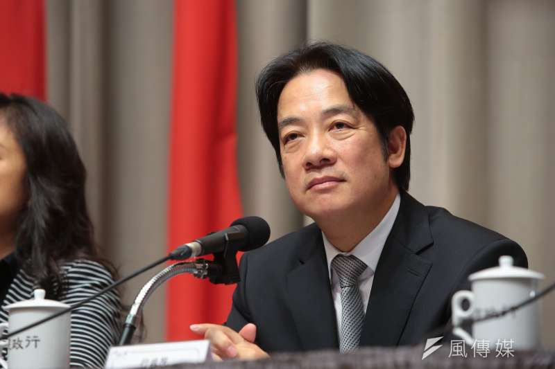 前行政院長賴清德上午在臉書發文,對於台灣未來發展,呼籲國內政黨要「去異存同」。(資料照,顏麟宇攝)
