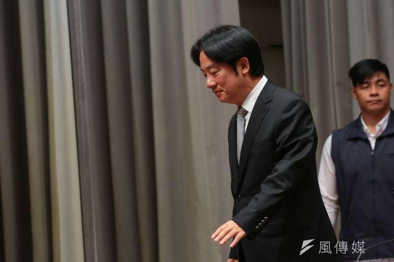 20181207-行政院長賴清德7日於行政院召開「選後檢討結果」記者會。(顏麟宇攝)