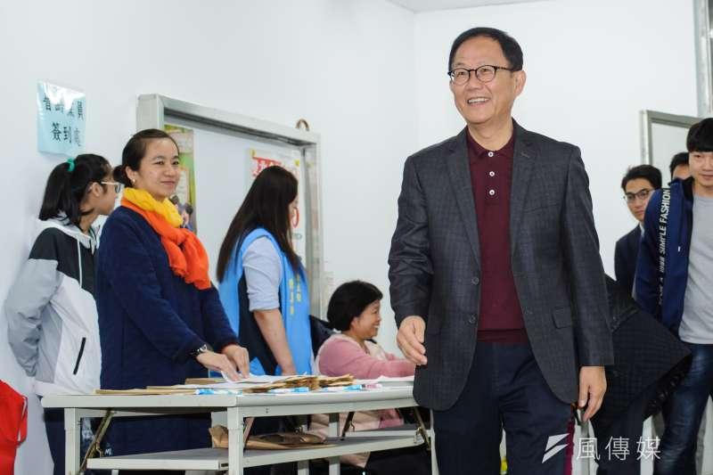 競選台北市長失利的丁守中,日前提起驗票未能翻盤,並考慮提起國賠。中選會13日對此表達尊重。(資料照,甘岱民攝)