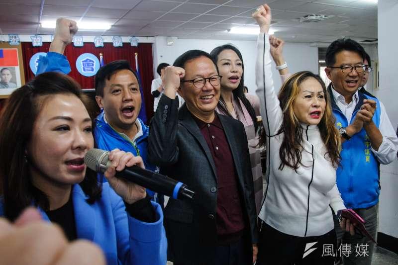 20181209-國民黨南港區後援會感恩茶會,前立委丁守中出席。(甘岱民攝)