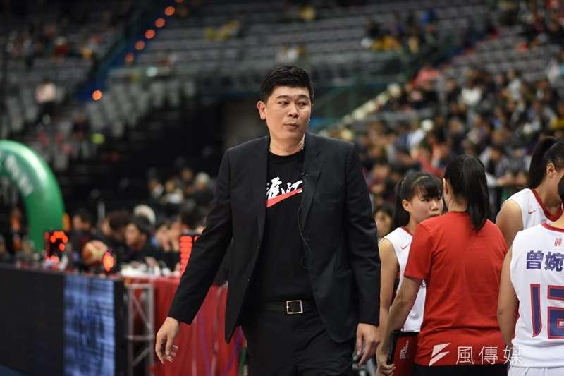 滬江高中女籃教練吳志偉。(資料照,王永志攝)