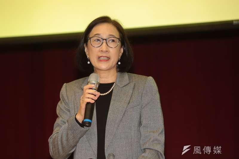 20181211-台大土木系教授周家蓓11日出席台大自主聯盟召開「台大人站出來 !還我校長-台灣教育不能等」記者會。(顏麟宇攝)