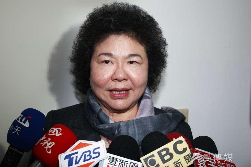 在黨內輩份極高的陳菊(見圖),也投入安撫旅美台僑工作,希望儘速整隊,助總統蔡英文打贏2020大選。(資料照,蔡親傑攝)