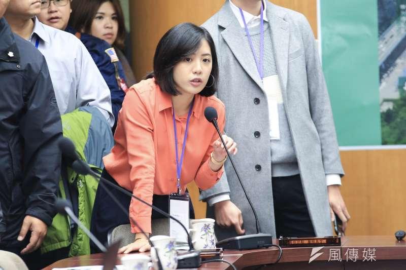 20181213-台北市長柯文哲幕僚學姐黃瀞瑩。(簡必丞攝)